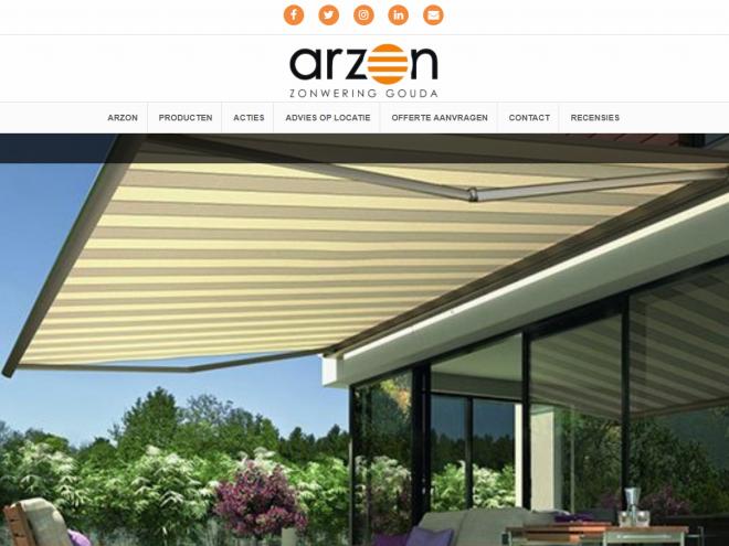 Arzon Zonwering Gouda Homepage 1