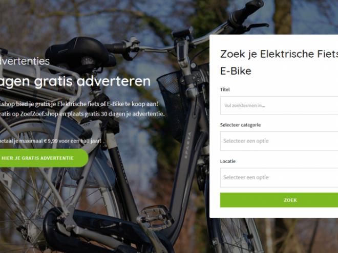 Homepage ZoefZoef shop de marktplaats voor elektrische fietsen en e-bikes